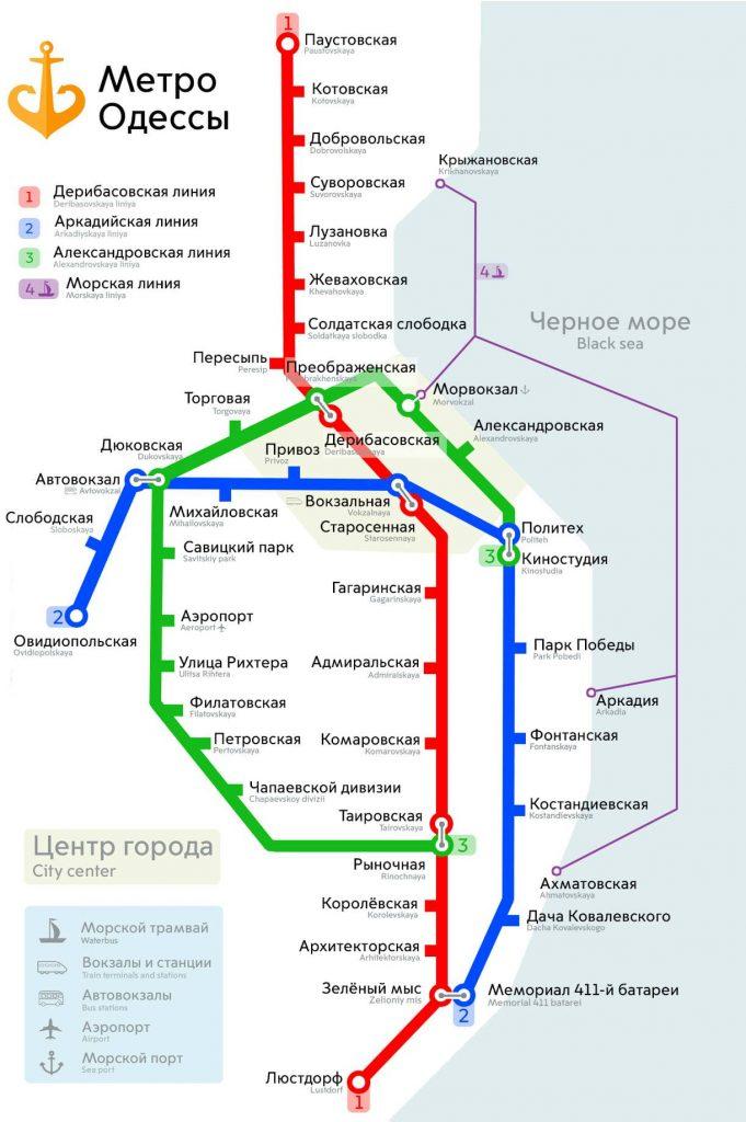 схема одесского метро