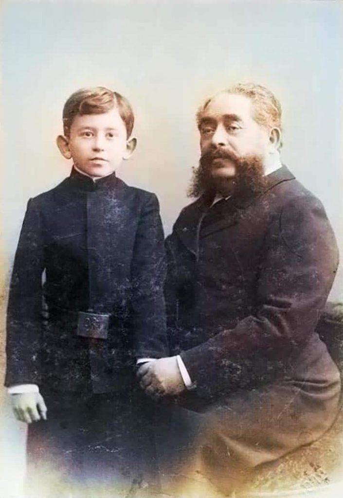 Г.Ф. Файг с сыном Николаем_color