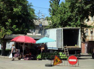 Ремонт Преображенской у Привоза «завернул» на Старопортофранковскую: что с «торговой площадью»?