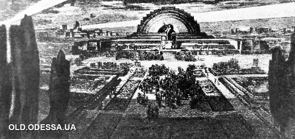 Один из проектов мавзолея в Одессе
