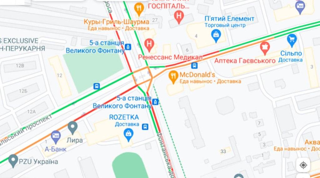 Пробки в Одессе 13 августа, 5-я станция