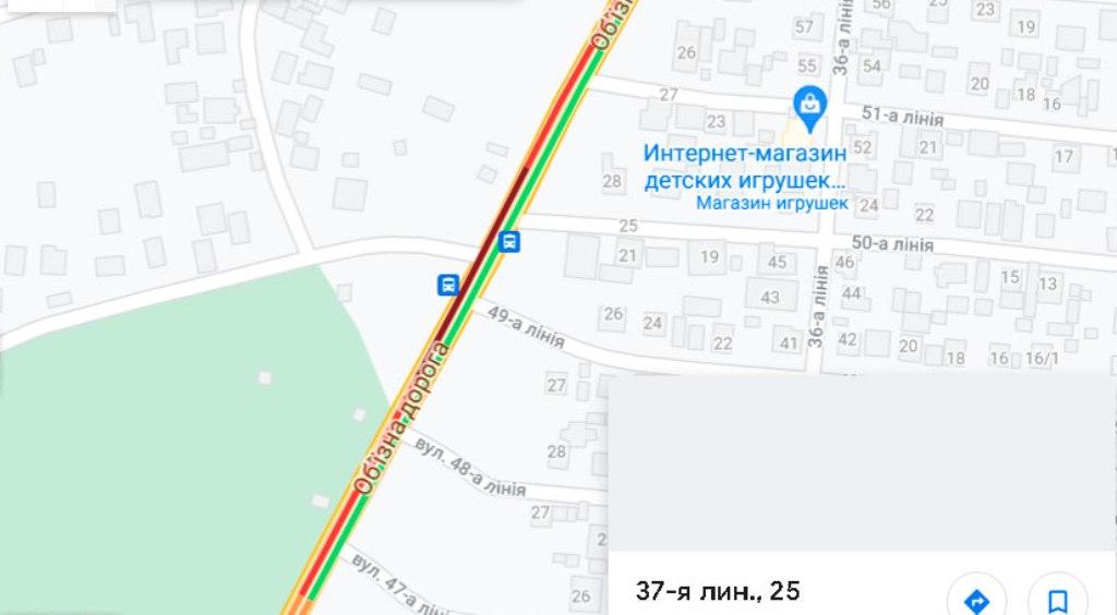 Пробки в Одессе 13 августа, Объездная