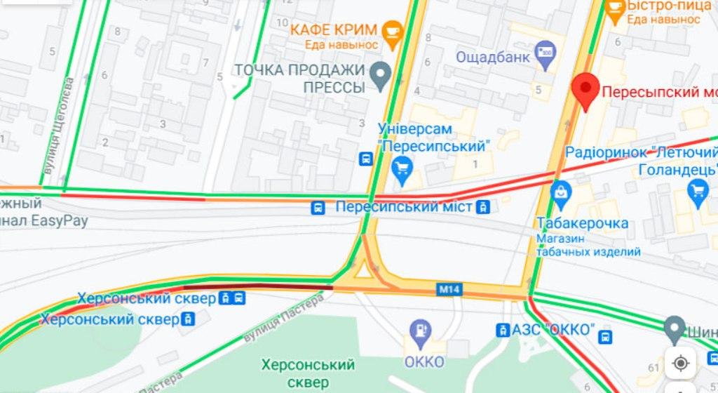 Пробки в Одессе 13 августа, Пересыпь