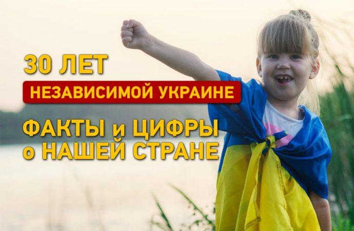 Независимой Украине 30 лет: факты и цифры о нашей стране