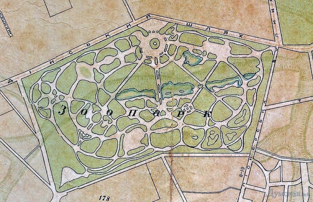 Зоопарк в парке Победы проект 30-х годов