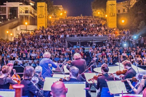 На Потемкинской лестнице в Одессе проходит мега-концерт (трансляция)