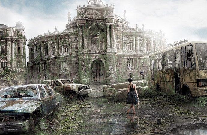 Апокалипсис по-одесски: дизайнер показал Оперный в плесени и мэрию в лианах (фото)