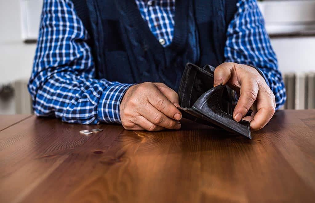 пенсии деньги кошелёк