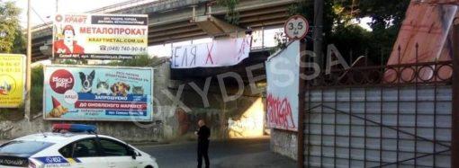 Одесская полиция ищет, кто развесил на мостах матерные ругательства в адрес Зеленского