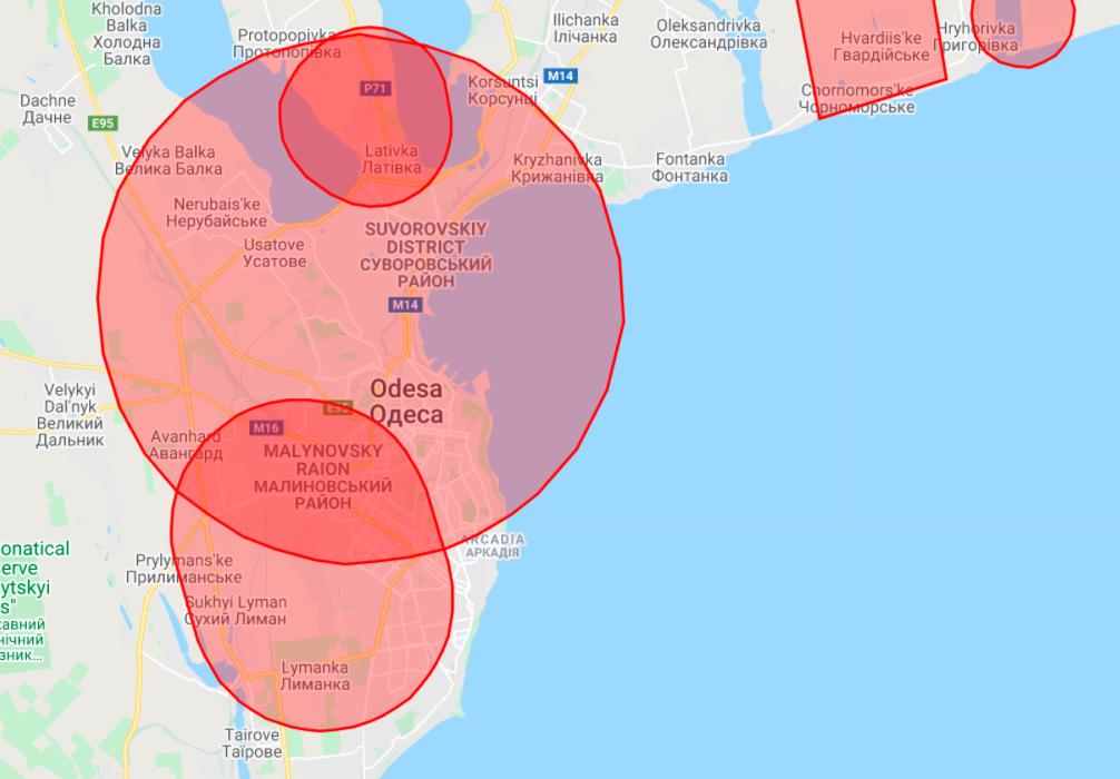 Карта ограничений для беспилотников