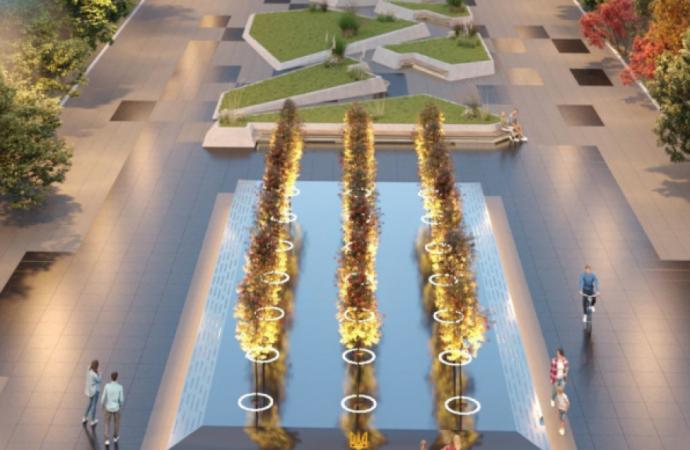 Как будет выглядеть мега-сквер перед Одесской ОГА: на 10 гектарах появятся 3 мемориала