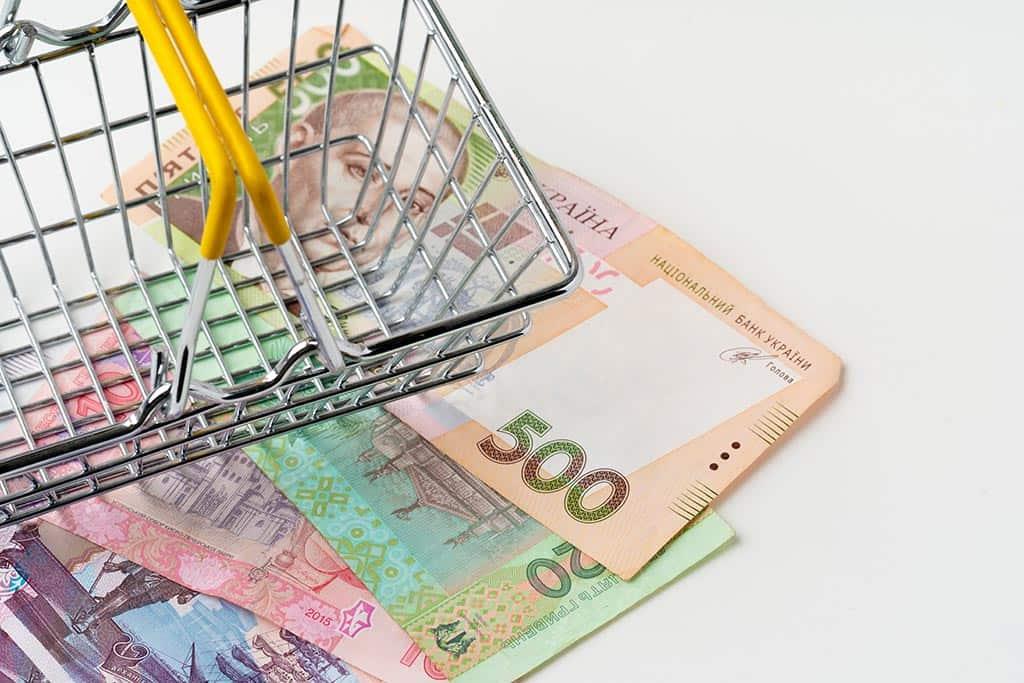 тележка деньги покупки