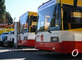 «Одесгорэлектротранс» представил новенькие электробусы, трамваи и спецмашины (фоторепортаж)