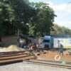 Ремонт участка одесской Преображенской: у Привоза укладывают новые трамвайные пути (фото)