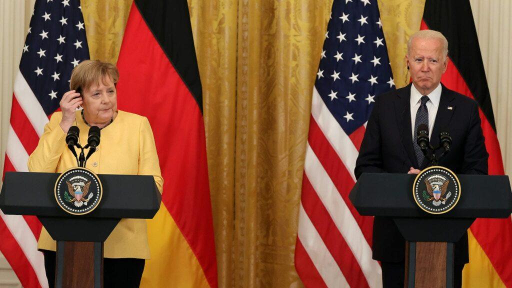 Байден и Меркель