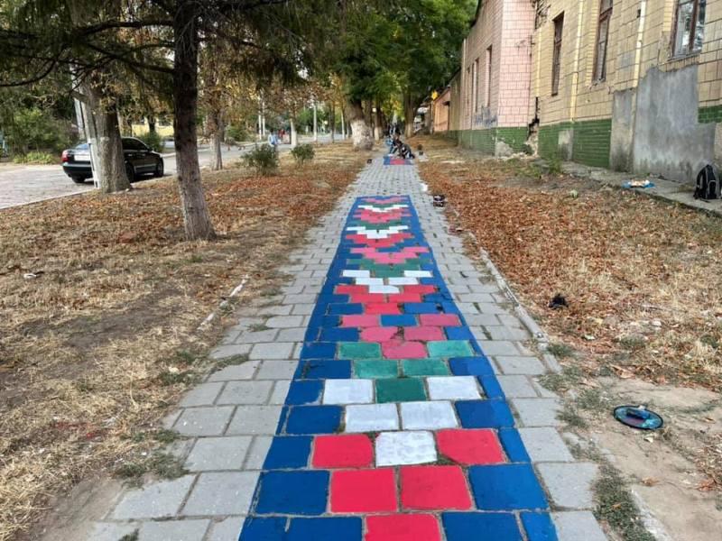 разноцветная дорожка в Болграде4