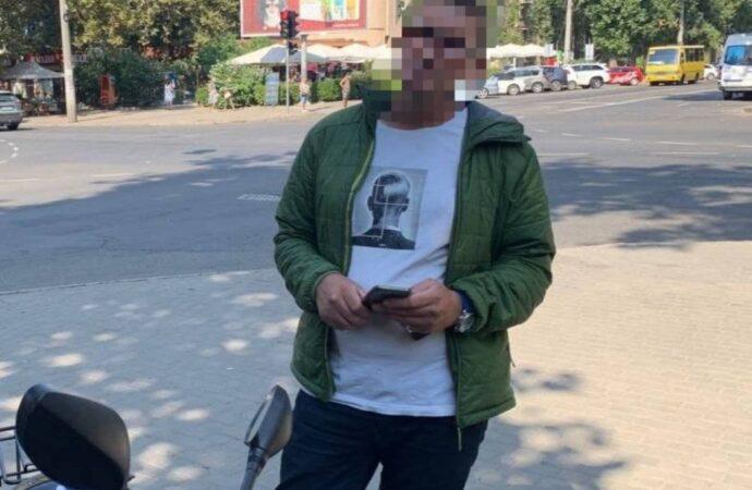 Одесские мотопатрульные прервали путешествие «наркомопеда»