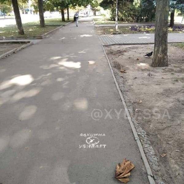 послание антиваксеров в Одессе2