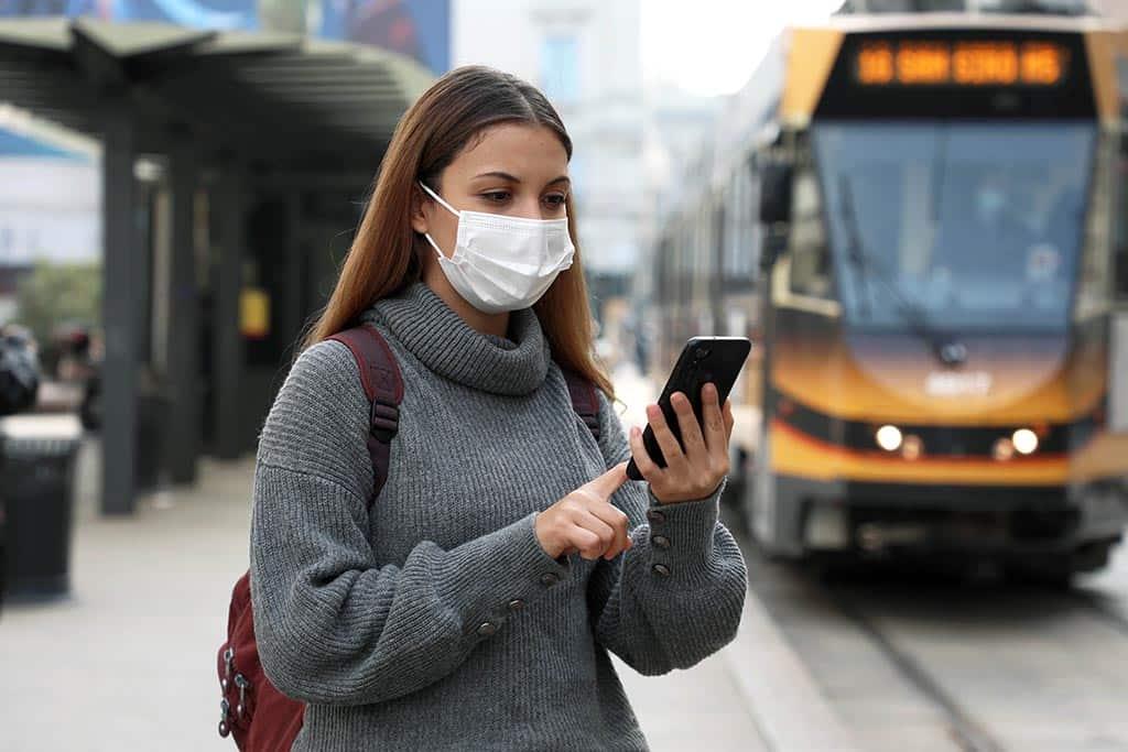 транспорт смартфон маска
