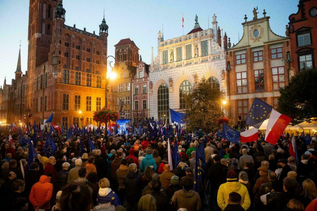 Массовые протесты в Польше