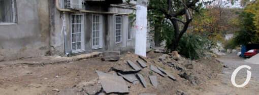 Одесский спуск от Градоначальницкой к Балковской: старую лестницу снесли, новую строят (фото)