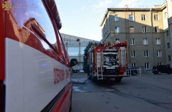 В Одессе горел экипаж морской академии