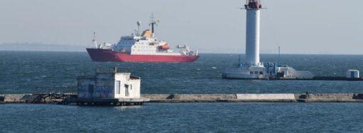 В Одесском порту обмелело море