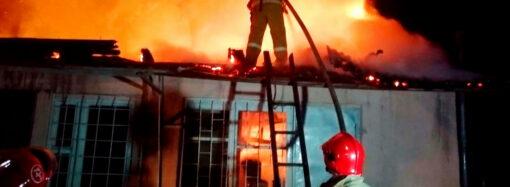В Одесской области пожарные спасли хозяина загоревшегося дома
