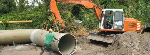 «Инфоксводоканал» прокладывает новый канализационный коллектор из стеклопластика