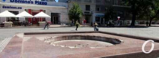 На одесской Греческой площади забьет струями давно неработающий фонтан