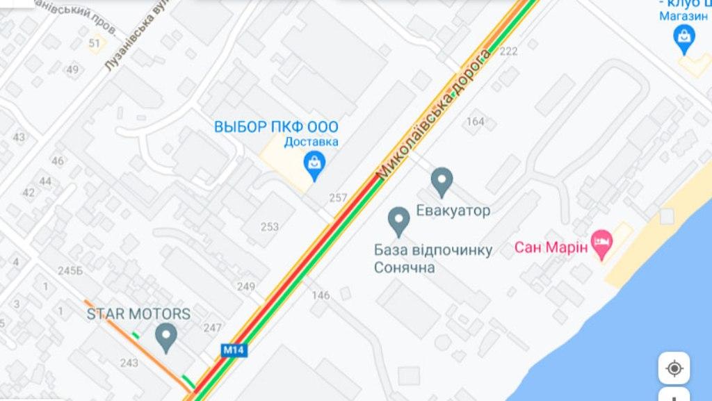 Пробки 4 октября, Николаевская дорога