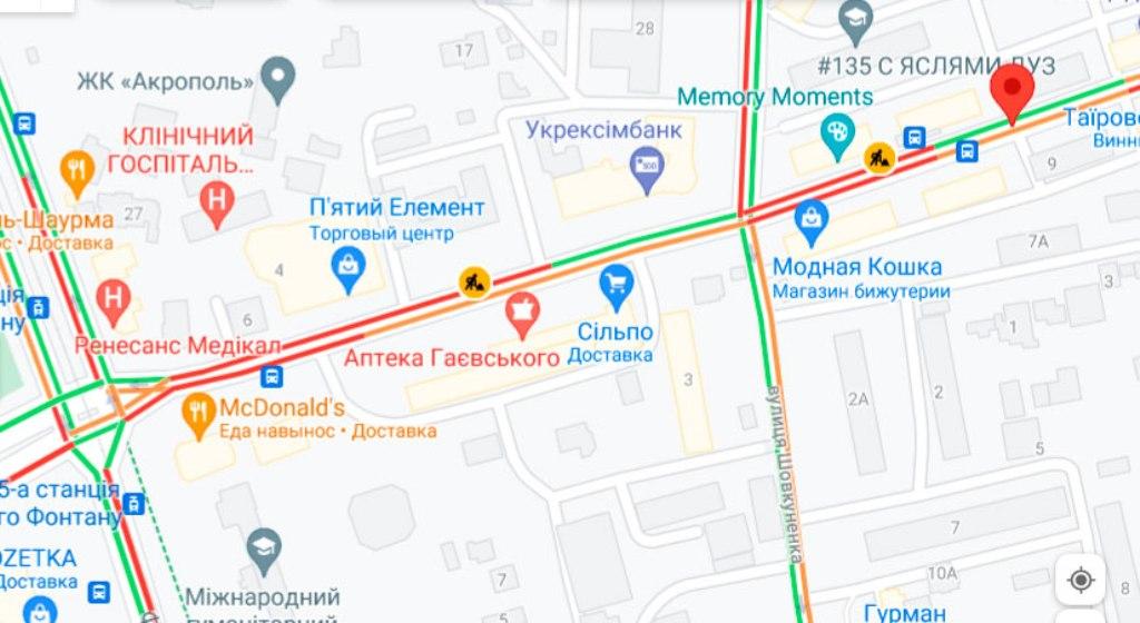 Пробки 4 октября, Черняховского