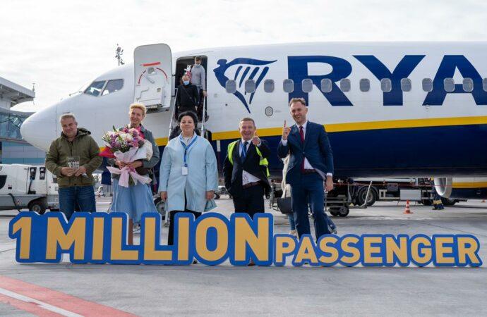 В аэропорту Одессы встретили миллионного пассажира