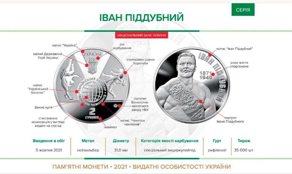монета в честь Ивана Поддубного