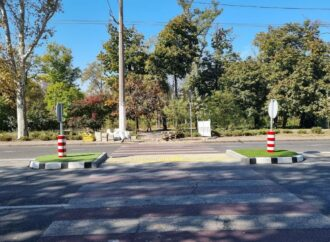 На одесских дорогах появились 5 островков безопасности
